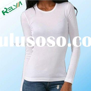 basic ladies t-shirt with long sleeves