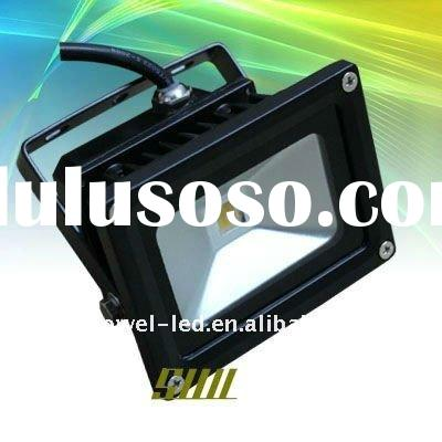 black outdoor 10 watt led flood light with BridgeLux
