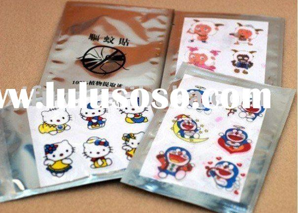cartoon natural essential oil mosquito repellent sticker,insect paste patch,mosquito killer 6pcs/set