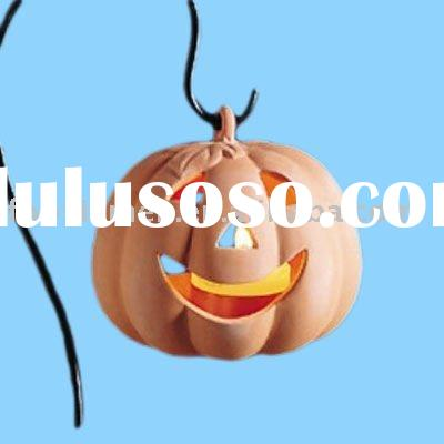 clay halloween pumpkin lantern