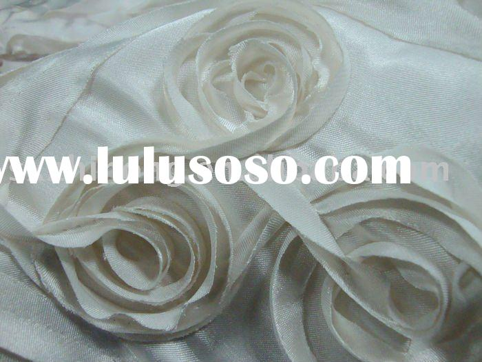 cord/tape embroidery fabric for wedding dress