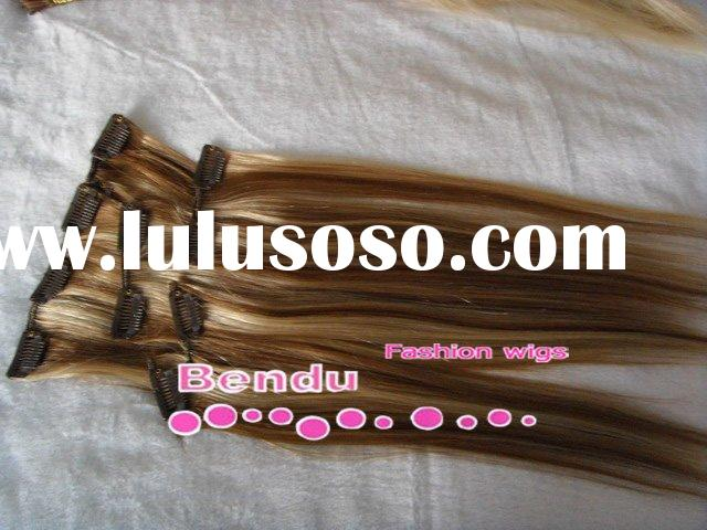 easy fit clip hair, clip human hair extensions, clip on hair