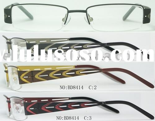 fashion designer high quality men metal half-rim eyeglasses frame