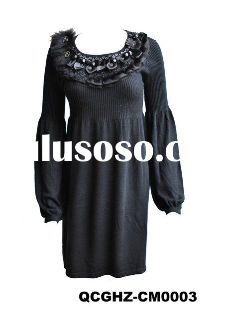 fashion ladies knit dress