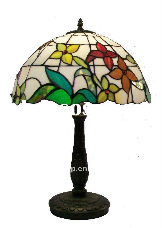 flower pattern glass lamp shade tiffany lamp