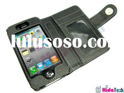 for iphone 4 case Horizontal Book Leather Case for apple iphone4 4g for Mobile phone leather case(pa
