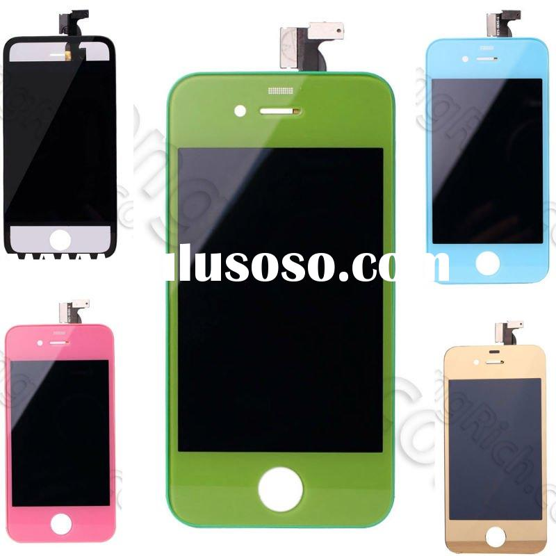 for iphone 4 front, back, glass with home button in a colors
