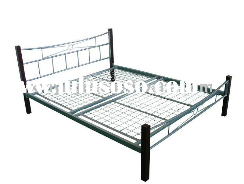 furniture bedroom metal bed with wood post(ML-021-A)