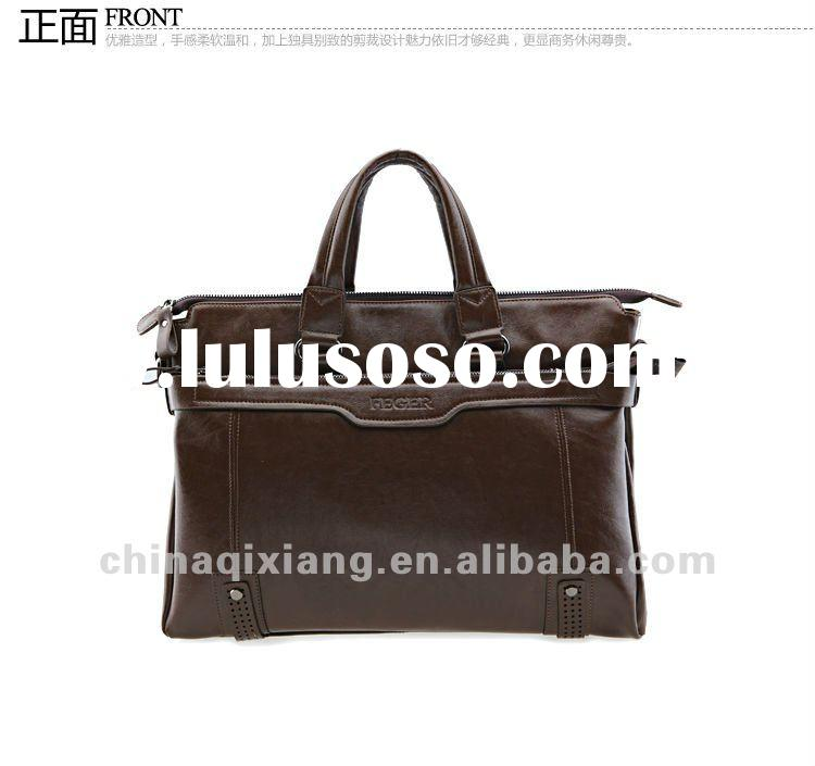 genuine leather laptop briefcase for men