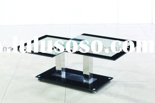 glass stainless steel coffee table CT3039