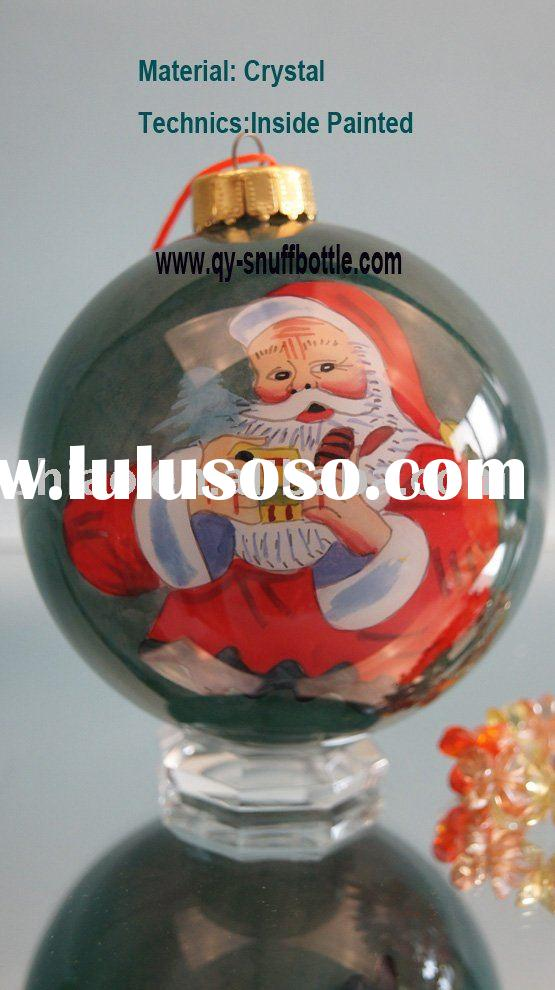 handmade christmas ornaments of 9cm glass ball inside painted christmas charms pic as baby christmas