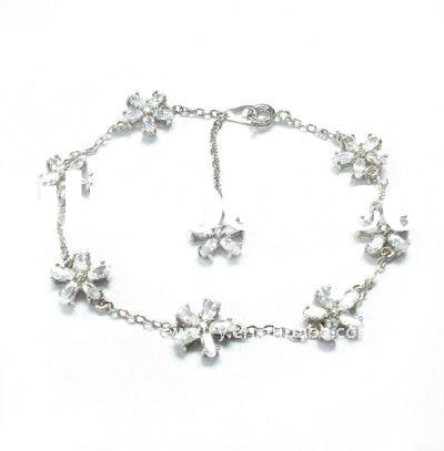 hawaii style jewelry bracelet, 925 silver flower bracelet for girls, high quality and factory price