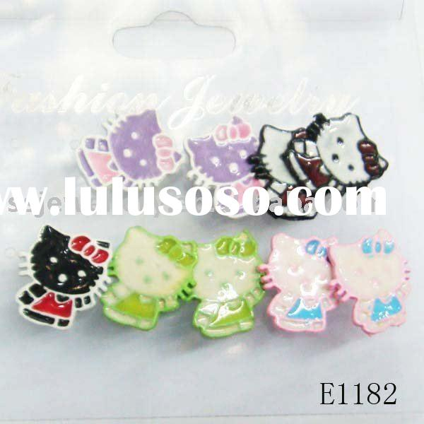 hello kitty earrings or cheap stud earrings or amimel jewelry