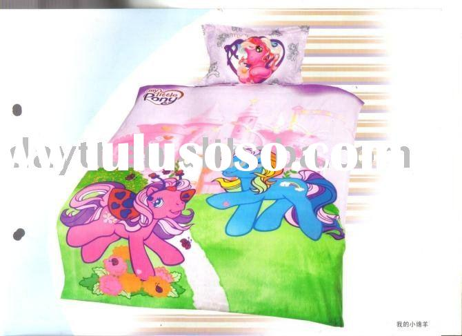 hot sell 3pcs/set in pink my little sheep beding set for kids cartoon bedding set lovely style on sa