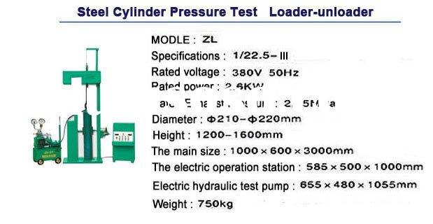 hydrogen gas Cylinder hydraulic pressure testing equipment/ hydrostatic testing machine