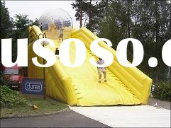 inflatable zorb ball(grass ball)-with slide/water slide