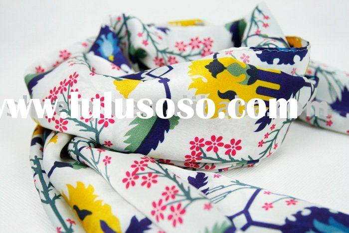 ladies' fashion printed silk scarf