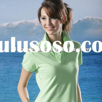 ladies' short sleeve 100 cotton polo shirt