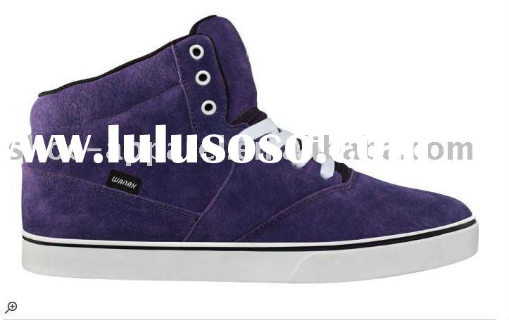 latest high top split leather skateboarding shoes for women
