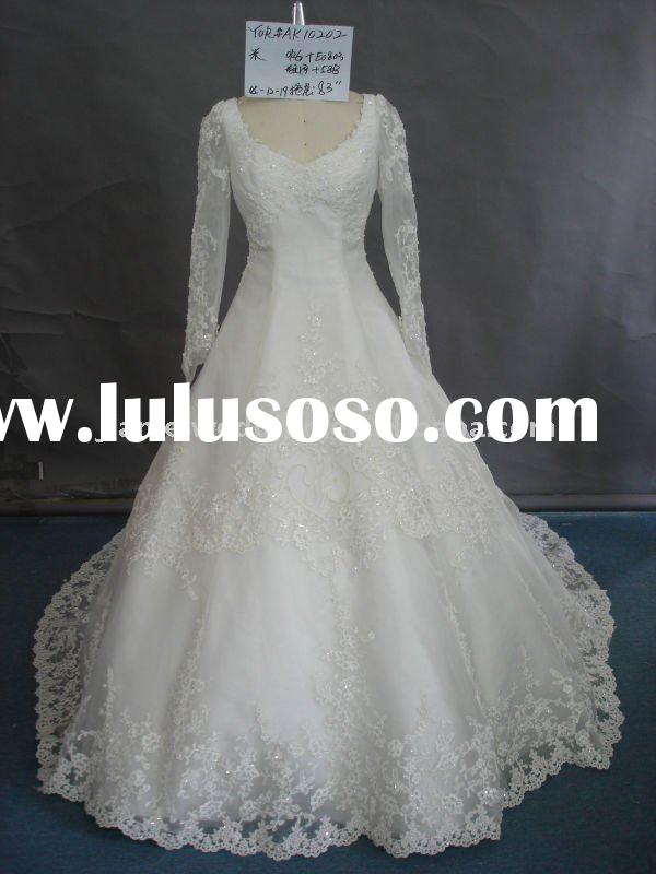 long sleeve wedding gowns AK10202
