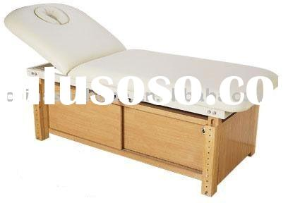 massage table (wooden massage bed, facial bed, salon bed)