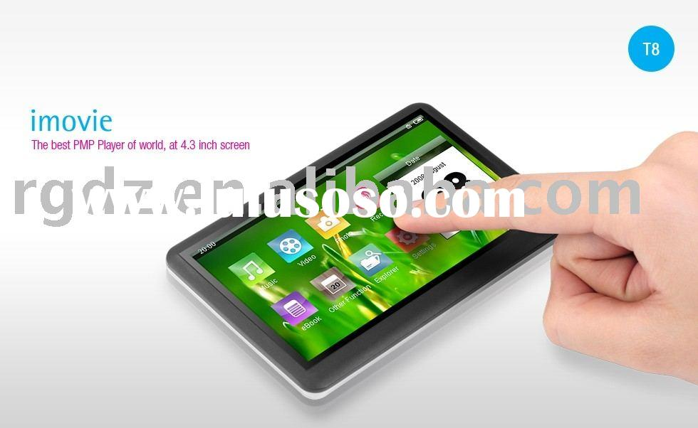 mp3/mp4/mp5 player 4.3 inch touch screen 4GB-16GB T8 TV-out function