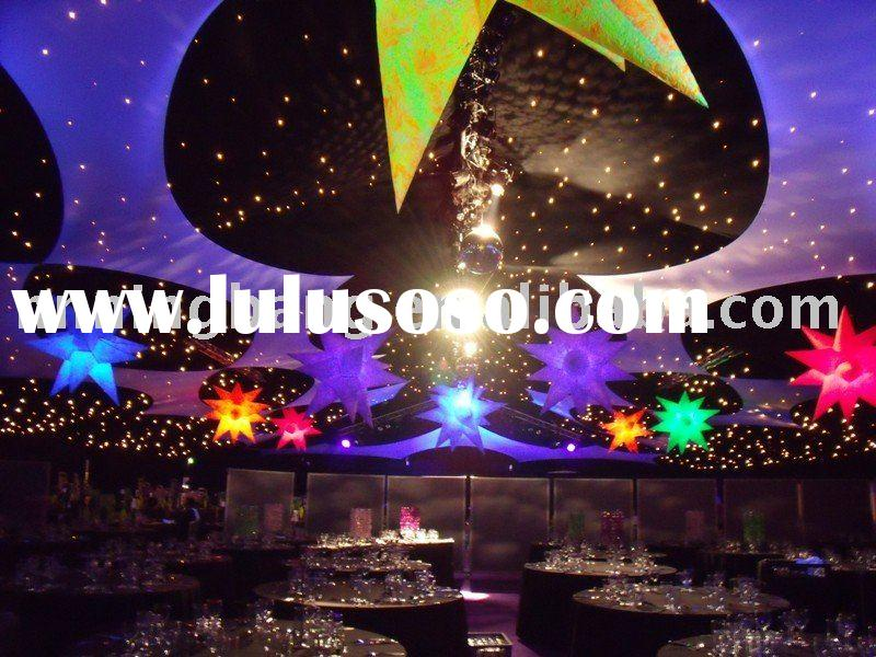multi-color inflatable star decoration with light at stage