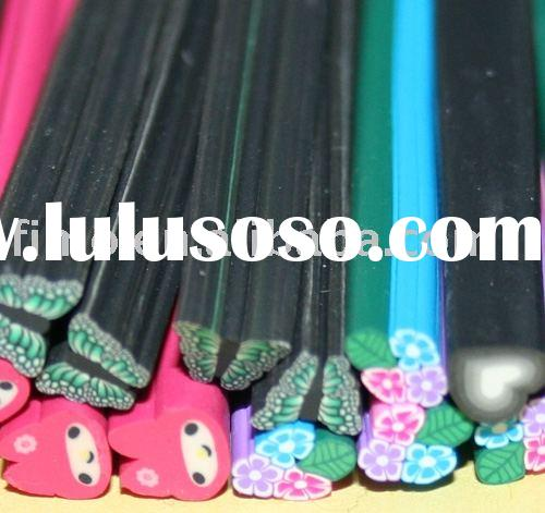 nail art, polymer clay nail cane,butterfly clay cane