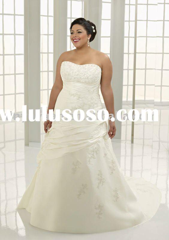 new designer hot sale plus size couture applique wedding dresses AAP-029