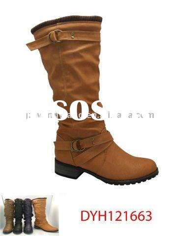 newest fashion horse riding winter boots for women camel color sport comfortable boots
