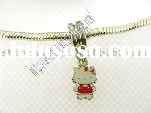 "newset DIY fashion ""Hello kitty"" Alloy &enamel dangle&pendant ,enamel Jewelry Allo"
