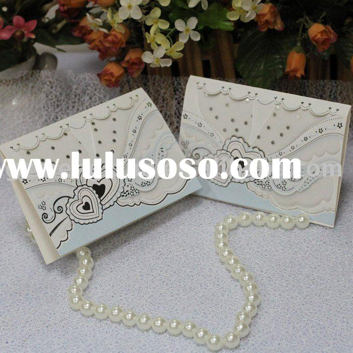 perfect tracing paper wedding invitation cards with two hearts--T185