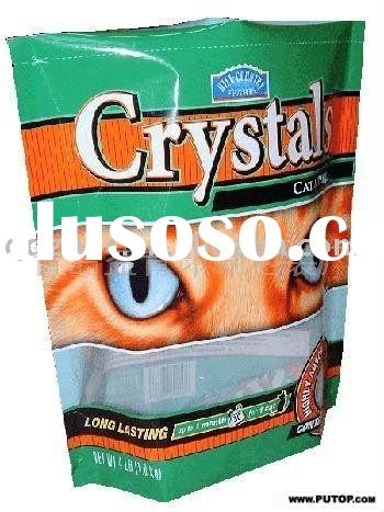 pet food stand up plastic packaging bag/pouch for cat litter