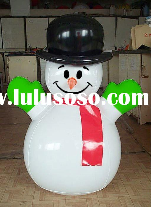 plastic snowman/christmas inflatable/festival decoration/holiday items/pvc products