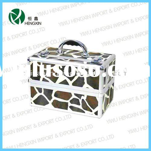 professional beauty aluminum cosmetic case lady case makeup box