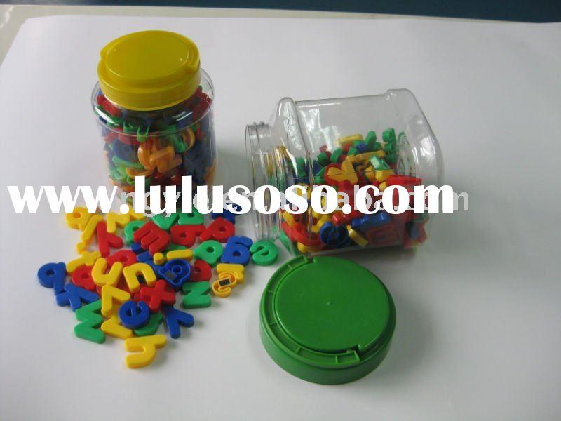 promotional colorful plastic magnetic alphabet letters for kids
