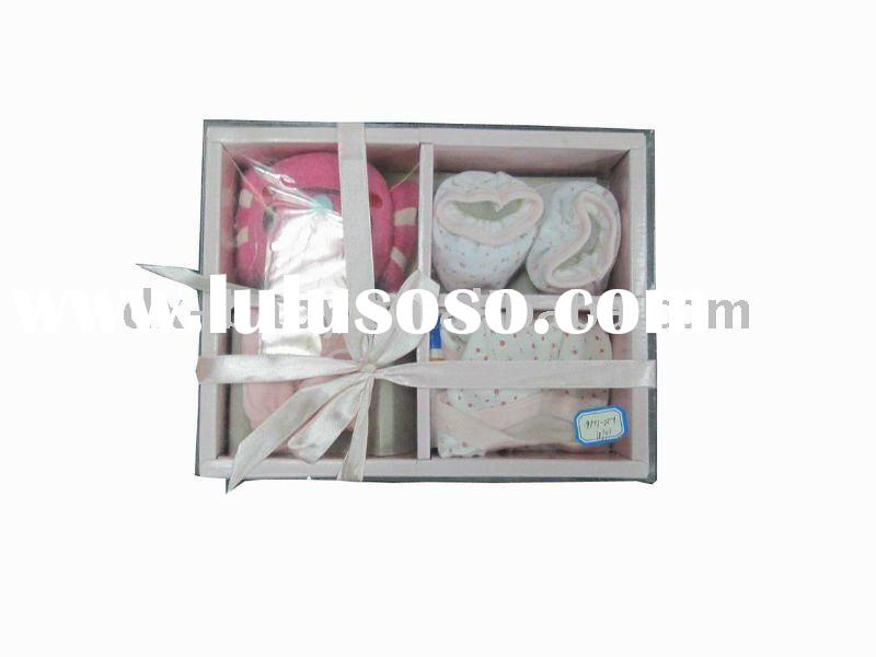promotional gift set for newborn baby clothes with 4pcs