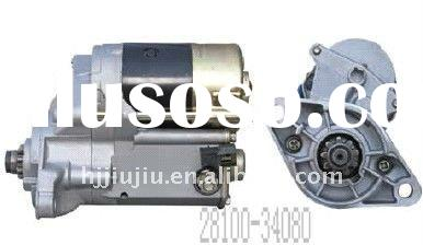 rebuilt used auto motor parts toyota starter for Japanese car(28100-34080)