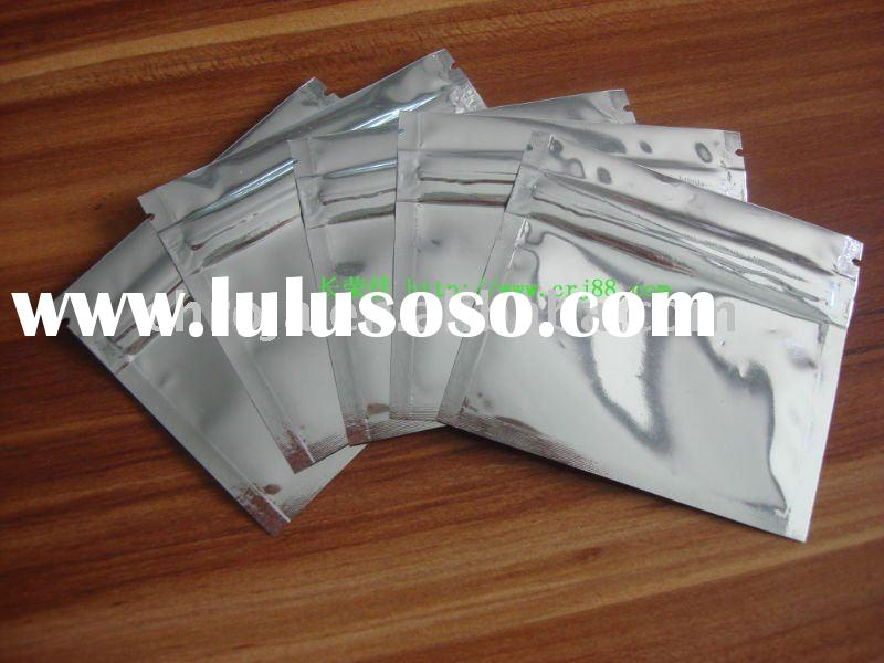 reclosed aluminum foil zip lock bag