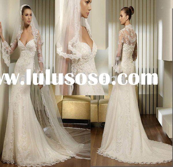 sell new arrival white lace bridal wedding dress TY5529