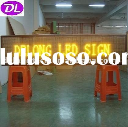 semi-outdoor advertising led electronic billboard display screen P10mm 32X192pixel yellow color for