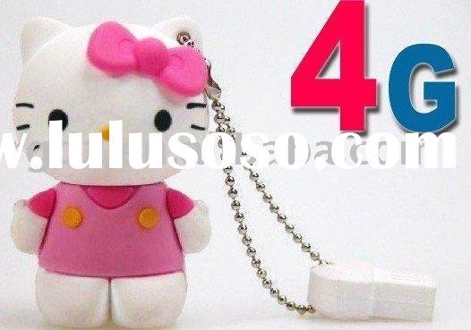 silicon cartoon 3D hello kitty usb flash drive