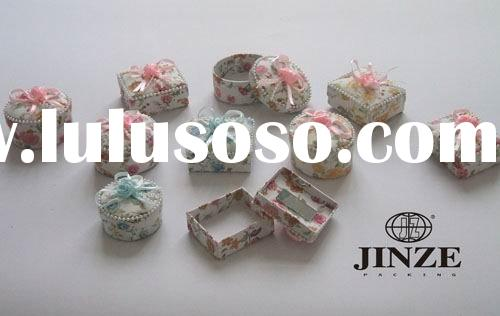 small white trinket, jewelry, ring boxes