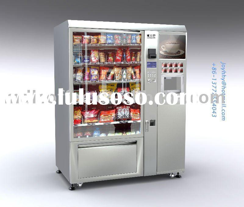 snack and cold drink and coffee vending machine