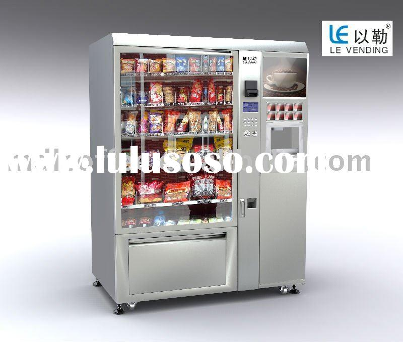 snack and drink and coffee vending machine