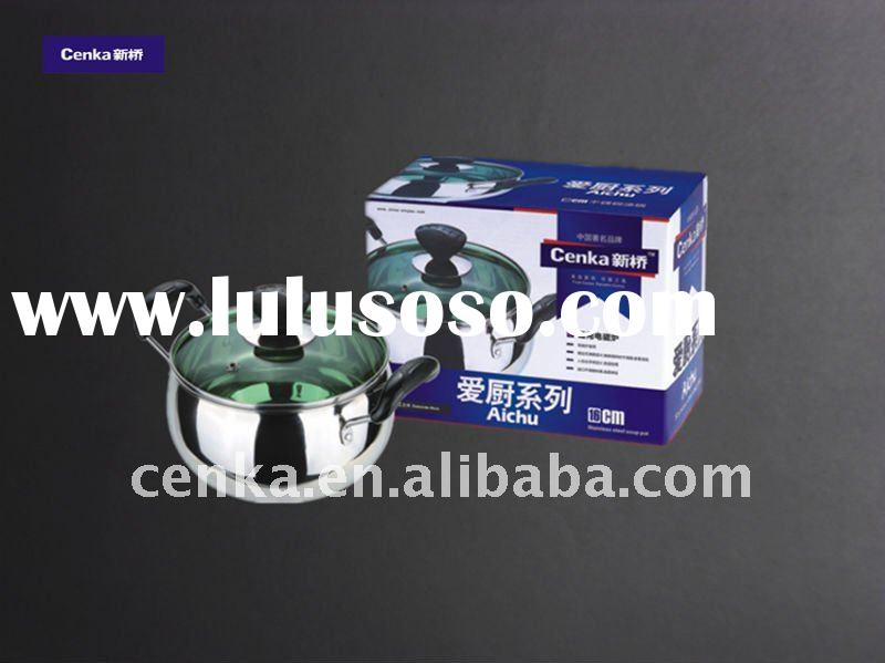 stainless steel cookware with double bottom