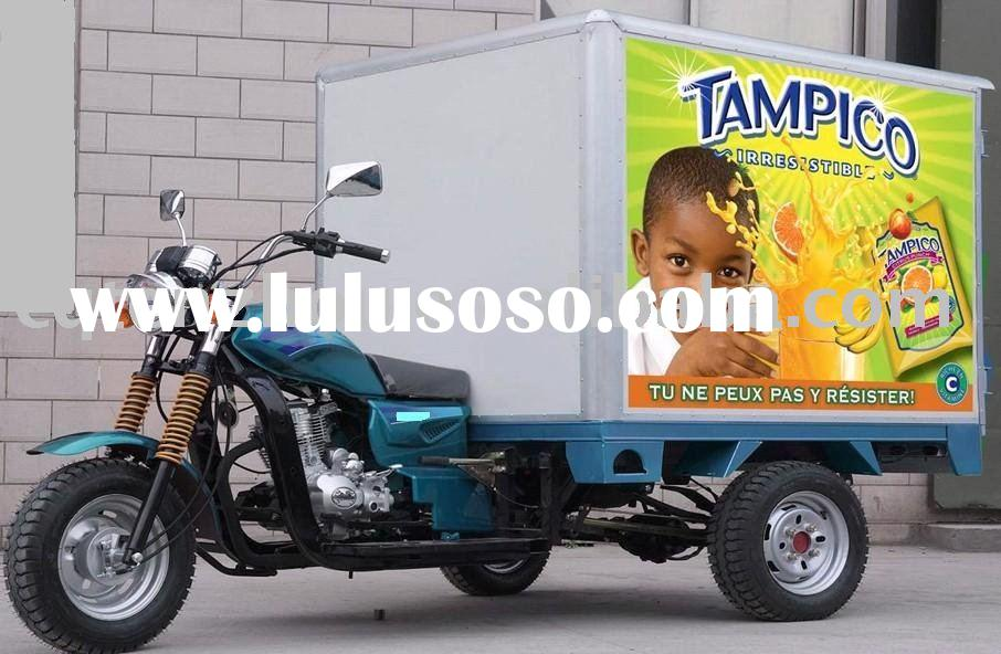 tri motorcycle / cargo box 3 wheeler / three wheel motorcycle