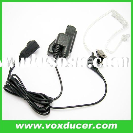 two way radio clear tube earpiece/ walkie talkie earphone/ interphone earbud/ teancsceiver earplug/