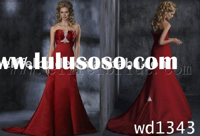 wd1343 red beautiful romantic wedding dress,attractive wedding gown
