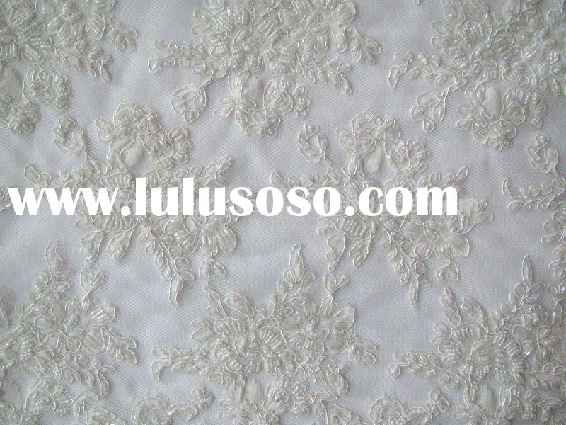 white lace embroidery fabric with handwork embroidery designs
